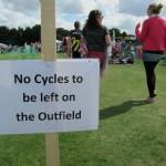 Not the usual cricket pitch signage