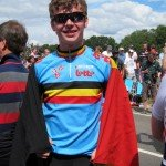 Belgian youth supporting Gilbert