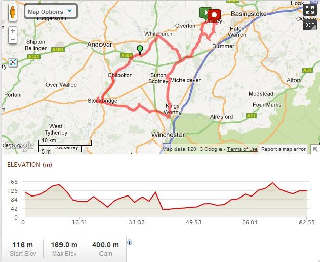 Tony Willard - 50 mile route 2