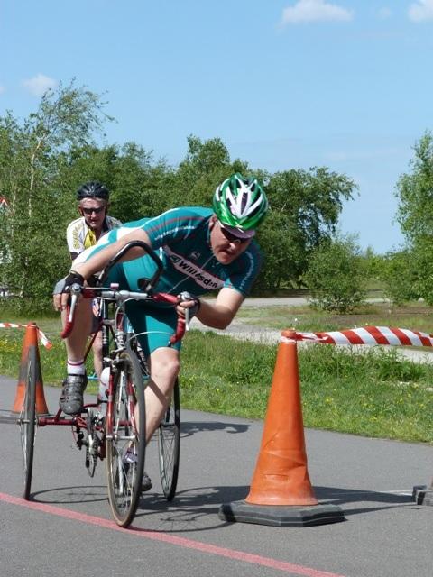 Mark Brooking bossing his trike