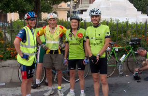 Sicilia No Stop 1000 with clubmates Peter Turnbull, Karl Hrouda and John Davies.