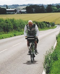 Aged 79, riding LEL 2005