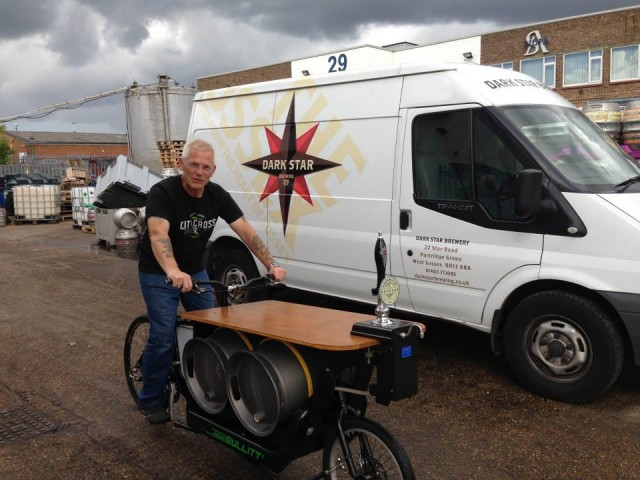 Dark Star Brewery beer bike