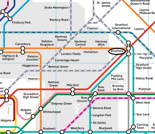 Stratford tube map