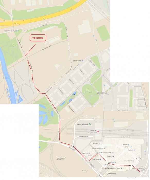 Lee Valley Velodrome - Map