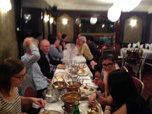 Curry night, May 2014: Members at the table