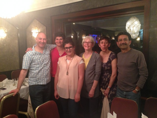 Curry night, May 2014: Members having fun