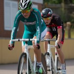 12 lap scratch race: Conor Woodford out front