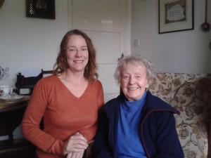 Jane with legendary Eileen Sheridan