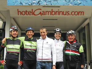 Hotel Gambruis guides with   Maurizio Fondriest (in centre)