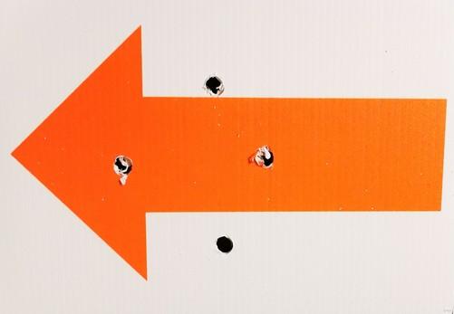 A sample arrow - orange on white Correx